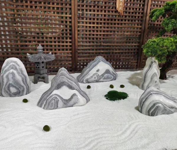 别墅庭院切片石
