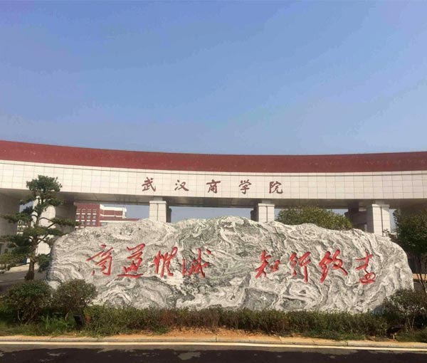 武汉商学院门牌石(泰山石)